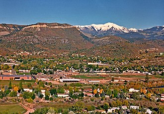 Durango, Colorado - Image: Durango Colorado from Rim Drive