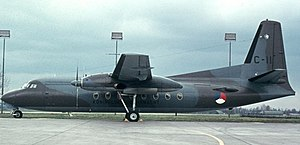 Fokker F27 Friendship - F27-300M Troopship of the Royal Netherlands Air Force in the mid 1970s