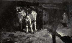 Dutch Painting in the 19th Century - Breitner - The White Horse.png
