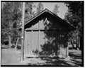 EAST ELEVATION - Snowlodge, Tourist Cabin Type G, 520' south of Snowlodge, West Thumb, Teton County, WY HABS WYO,20-OFAIT,3J-2.tif