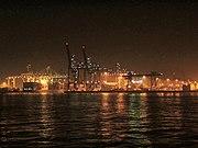 ECT waalhaven bij nacht