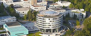 European Molecular Biology Laboratory - The EMBL Heidelberg buildings, including the new Advanced Training Centre