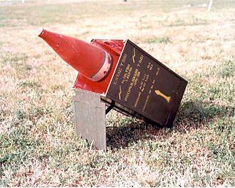 ENTAC - ENTAC Model 58 missile at the US Redstone testing facility on 29 March 1961
