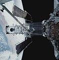 EVA 4 activity on Flight Day 7 to service the Hubble Space Telescope (28120543406).jpg