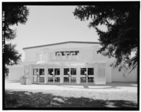 East (entrance) side. - Fitzsimons General Hospital, Theater, Northwest Corner of East McAfee Avenue and South Page Street, Aurora, Adams County, CO HABS COLO,1-AUR,2BZ-1.tif