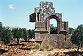 East Church, Me'ez (ماعز), Syria - Remains of south façade of Church - PHBZ024 2016 5438 - Dumbarton Oaks.jpg