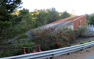 Berkeley Hills Tunnel - East portal structure of the Berkeley Hills Tunnel