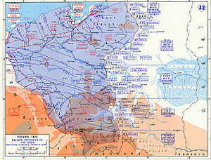 Heribert von Larisch - Operations at the Eastern Front, January to March 1945. The defensive line, which Larisch's 129th Infantry Division defended, lies along the river Narew, north of Warsaw, a tributary of Vistula river.