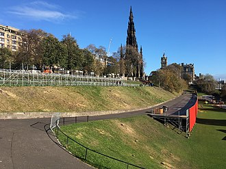 Princes Street Gardens - East Princes Street Gardens after the removal of 52 trees in October 2018.