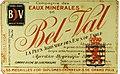 Eaux minérales de Bel-Val, étiquette-101.jpg