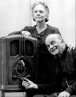 Ellen Corby - Edgar Bergen and Corby in the made-for-television film The Homecoming in 1971