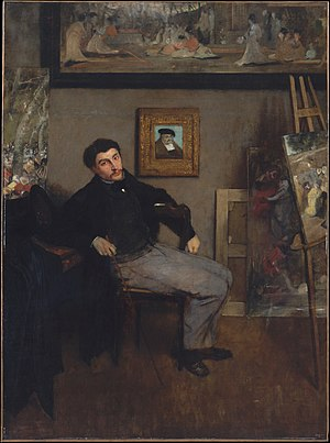 James Tissot - Portrait of James Tissot by Edgar Degas, c.1866-67