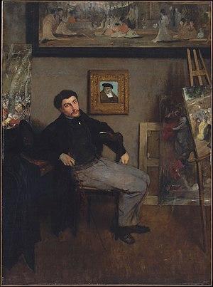 James Tissot - Portrait of James Tissot by Edgar Degas, c.1866-67