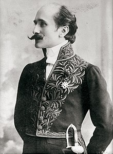 Rostand in the uniform of the Académie française, 1905