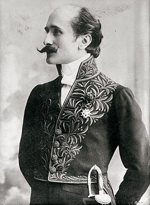 Edmond Rostand - Rostand in the uniform of the Académie française, 1905