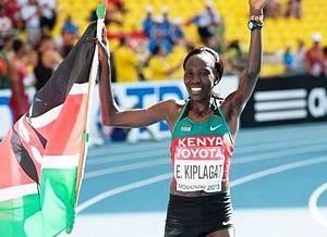 Edna Kiplagat - Kiplagat at the 2013 World Championships