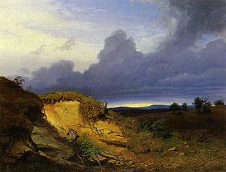 Eduard Schleich the Elder - A Young Boy Resting (1833)