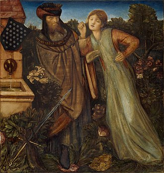 Mark of Cornwall - King Mark and La Belle Iseult by Edward Burne-Jones (1862)