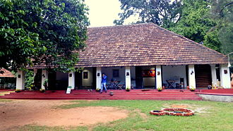"8 Point Art Cafe - ""Parambarya building"" in Asramam Picnic Village were Eight-Point Gallery Cafe is situated"