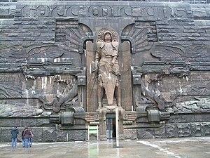 Christian Behrens - Behrens' sculpture of the Archangel Michael at the Völkerschlachtdenkmals