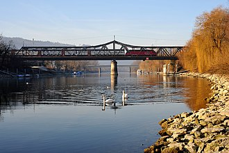 Aegerten - Railroad bridge over the Zihl river