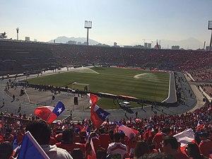 2015 Copa América Final - Image: El Estadio Nacional de Chile durante la final de la Copa América 2015