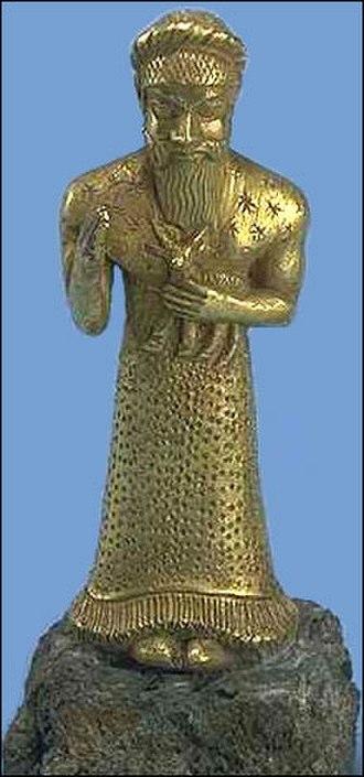 Agal (accessory) - Image: Elamite worshipper