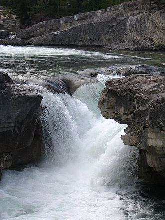 Elbow River - Elbow Falls on the upper course