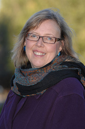 Green Party of Canada - Elizabeth May on March 17, 2007, after announcing her candidacy in Central Nova