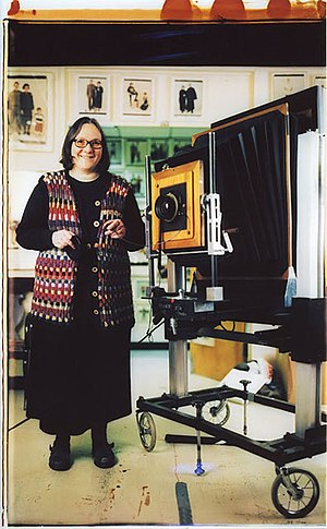 Elsa Dorfman - Self-portrait of Elsa Dorfman in her studio