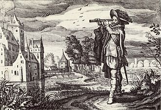 "History of the telescope - Early depiction of a ""Dutch telescope"" from 1624."
