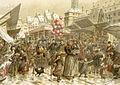Emile Schweitzer-Foire de Noël sur la place Kléber en 1859.jpg