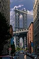 Empire State framed by the Manhattan Bridge July 2009.jpg