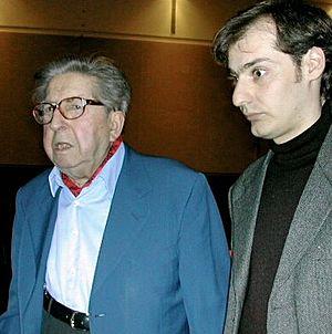 Henri Dutilleux - Dutilleux (left) with Régis Campo in 2004