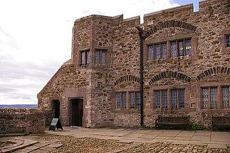 Lindisfarne Castle - Castle entrance