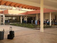 Entrance to terminal building at Bamako-Sénou International Airport.jpg