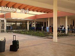 Entrance to terminal building at Bamako-Sénou International Airport.jpg
