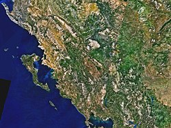 NASA satellite image of Epirus