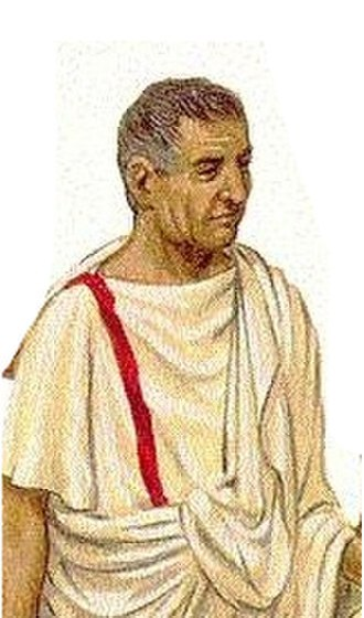 Angusticlavia - Picture of an equestrian dressed in his rank toga and tunic, the angusticlavia.