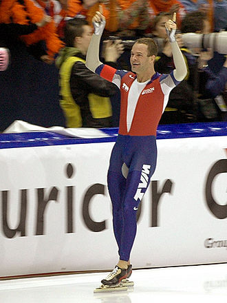 2007 World Allround Speed Skating Championships - Distance winner Erben Wennemars smiling after the race.