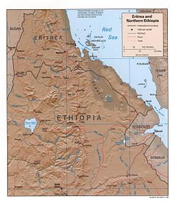 Eritrea and Northern Ethiopia shaded relief map 1999, CIA.jpg