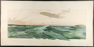 Louis Blériot - Blériot crossing the Channel on 25 July 1909