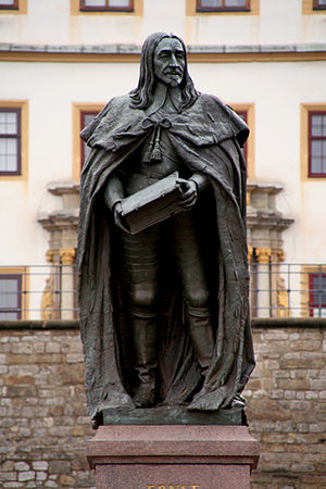 Gotha - Memorial to Ernest the Pious in front of Friedenstein Castle