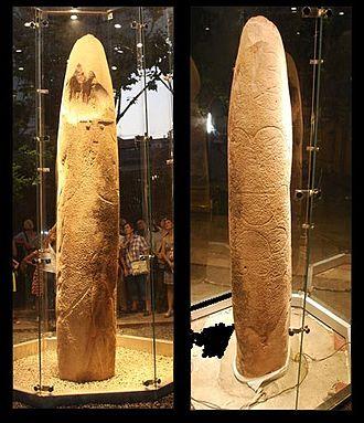 Statue menhir - Image: Estàtua menhir del Pla de les Pruneres (Mollet)