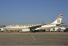 Un Airbus A330 di Etihad Airways.