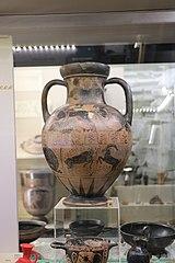 Etruscan amphora showing Troilos