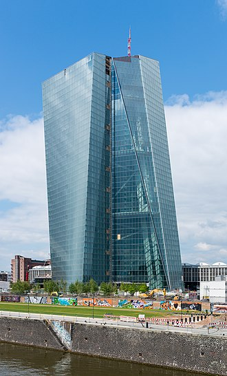 Euro - The European Central Bank has its seat in Frankfurt (Germany) and is in charge of the monetary policy of the eurozone.