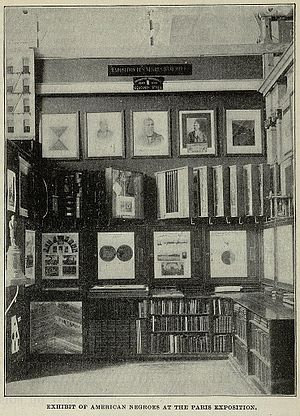 The Exhibit of American Negroes - Photograph of the Exhibit of the American Negroes at the Paris Exposition, 1900