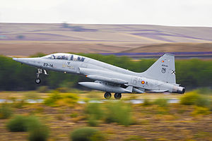 """Badajoz Airport - Image: F 5M El """"Mago"""" de Talavera (15358021790)"""