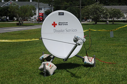 Satellite communications after tropical storm Debby in Lake City, Florida, 2012 FEMA - 58087 - Photo by George Armstrong taken on 07-09-2012 in Florida.jpg